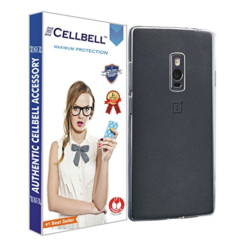 Cellbell Ultra Thin 0.3mm Clear Transparent Flexible Soft TPU Slim Back Case Cover For One plus two