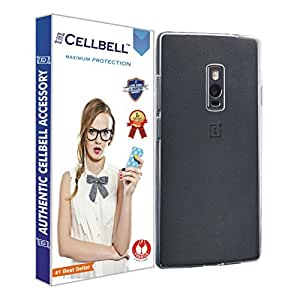 Cellbell Ultra Thin 0.3mm Clear Transparent Flexible Soft TPU Slim Back Case Cover For Oneplus two