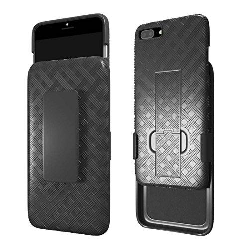 iPhone 6S Plus Fall, iPhone 6Plus Schutzhülle, Rom Tech OEM Schutzhülle Slim Handy Case mit Ständer Clip Holster für Apple iPhone 6S Plus und iPhone 6Plus-Schwarz -