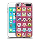 Head Case Designs Pink Muster Kawaii Eule Soft Gel Hülle für Apple iPod Touch 6G 6th Gen
