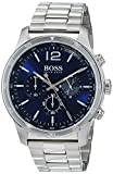 Hugo BOSS Herren Chronograph Quarz Uhr mit Edelstahl Armband 1513527