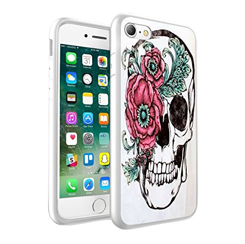 Sony Xperia XA1 Sweet Skull with Flowers design Case, Premium Lightweight Cover Skin, Unique Custom Cool Design Protective Hard back Slim Thin Fit PC Bumper Case Scratch-Resistant Cover for Sony Xperia XA1 - Sweet Skull with Flowers Cool Art 0015 - Itronix Pc S