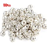 100X Metallperlen Zwischenring Zwischenperlen Perle 6mm