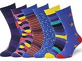 Easton Marlowe 6 Paar Fein Gemusterte Kleidersocken, 6 paar, 6pk #7, mixed - bright colors, Gr. 39 - 42 EU Schuhgröße