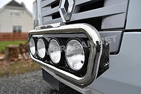 Pre 2014 DAF CF Stainless Steel Truck Front Grill Light Lamp Bar B