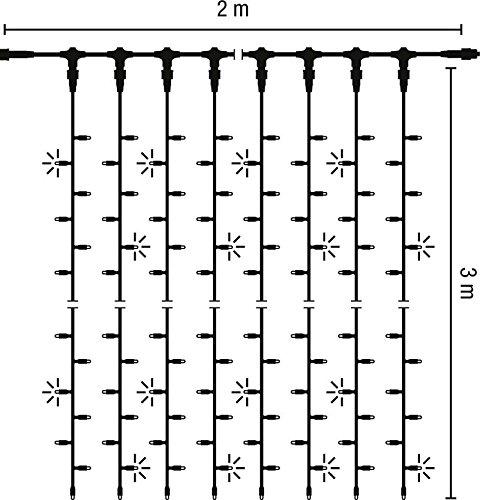 Scharnberger+Has. LED-Lichtervorhang 58576 2x3m 230V Out wws Festbeleuchtung 4034451585768