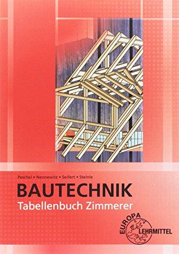 Tabellenbuch Zimmerer: Tabellen - Formeln - Regeln - Bestimmungen