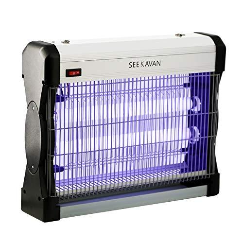 Seekavan Zanzariera Elettrica, Lampada Anti Insetti Anti Zanzare con Luce UV 20 Watt 3.000V