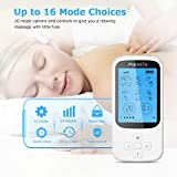 TENS Massage Gerät, Maxcio Elektrische Muskelstimulator für Entspannung, 16 Modi mit 20 Intensitätsstufen und 6 wiederverwendbare Elektrodenpads, USB Aufladbar, Timer Funktion - 2