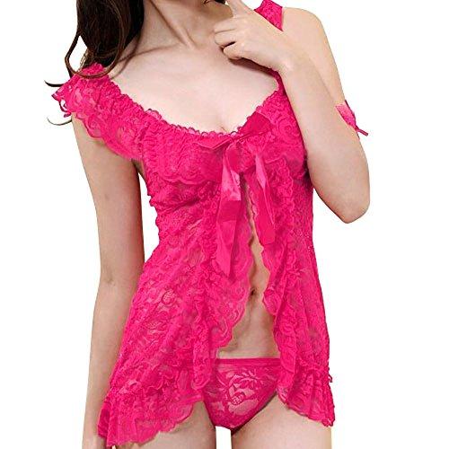 cb4381c000 FUNOC - La Camiseta de Tirantes Camison Combinacion Camisola Liguero  Lenceria Para Disfraz De Mujer Salto de Cama