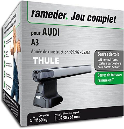 Pack Rameder barres de toit SlideBar pour AUDI A3 (114983-01557-1-FR)
