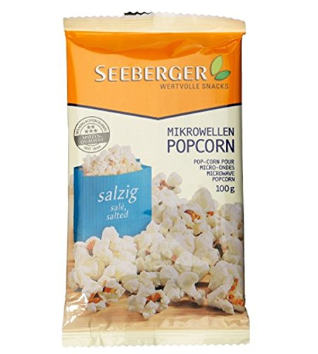 Seeberger Mikrowellen-Popcorn salzig, 22er Pack (22 x 100 g Packung)