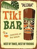 Tiki Bar Best of Times Best of Friends Bar/Pub Schild retro Man Cave Metall blechschild Wandschild Neuheit Geschenk