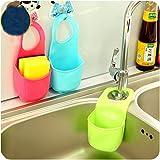 EQLEF® 2 PCS Spugna Storage Box rack carrello Wash Cloth igienici sapone Mensola Organizzatore Cucina Bagno Gadget Sink Shelving Bag