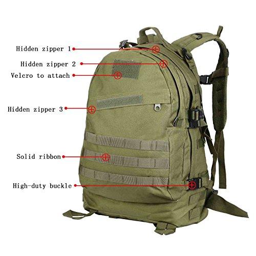 3D Military Tactical Rucksäcke Outdoor Rucksack Hohe Kapazität Wasserdicht Pack für Camping Wandern Trekking armee-grün