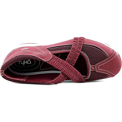 Ryka Lwlp Cross Strap Slip On Femmes Toile Mocassin Cabernet-Moonbeam