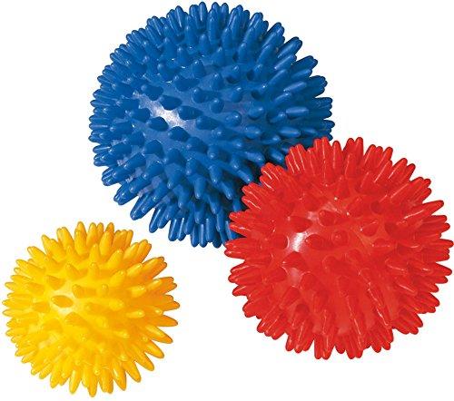 Preisvergleich Produktbild Igel-Noppenball,  harte Ausführung,  Durchmesser 7 cm,  gelb