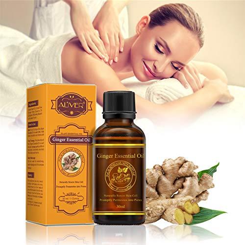 Huile essentielle de gingembre pour le gommage au massage favorise la circulation...