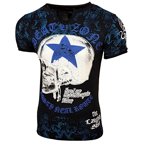 Rusty Neal Herren T-Shirts T-Shirt weiß weiß Schwarz