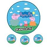 Tortenaufleger Geburtstag Tortenbild Zuckerbild Oblate Motiv: Peppa Pig 01 (Zuckerpapier)