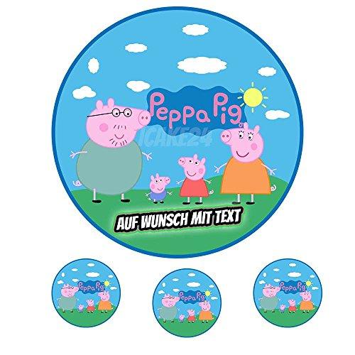 Tortenaufleger Geburtstag Tortenbild Zuckerbild Oblate Motiv: Peppa Pig 01 (Zuckerpapier) Std Muffin