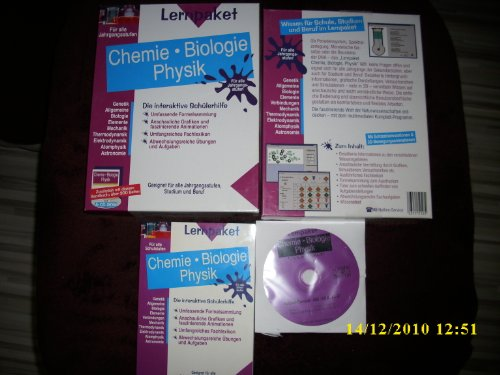 Schülerhilfe! ~ Chemie ~ Biologie ~ Physik ~ Die interaktive Lernsoftware für bessere Zeugnisnoten! ~ Abgestimmt auf die Lehrpläne aller Bundesländer Lernpaket (CD-ROM) mit 311 Seiten Buch.