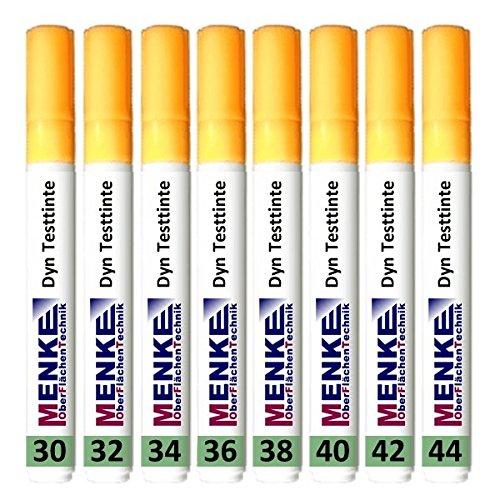 8 Teststifte für Oberflächenspannung von 30 bis 44 mN/m 5mm Stiftbreite