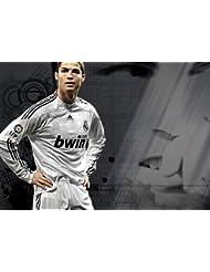Cristiano Ronaldo 20–Motivation–Monde Lecteur de l'année–Footbal–Real Madrid–A3Poster