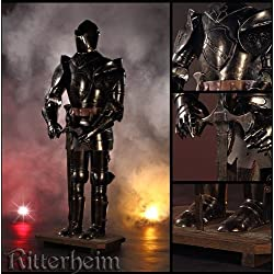 Armadura de caballero medieval negro 103cm