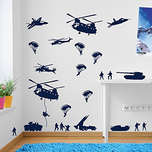 armee hommes militaire soldats helicopta re decoration murale fenaatre stickers decoration murale sticker mural stickers muraux art