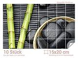 Graz Design 761657_15x20_50 Fliesenaufkleber Bambus/Massagesteine | Bad-Fliesen mit Fliesenbildern überkleben (Fliesenmaß: 15x20cm (BxH)//Bild: 75x50cm (BxH))