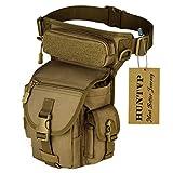 Huntvp Bolsa de Pierna de Múltiple Función Estilo Militar Táctical Bolso de Cintura...