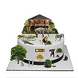 Zoo Jungle Animal Stand Up Kuchen Szene aus Essbar Wafer Papier–Perfekt für Dekorieren Ihre Dekorationen einfach zu verwenden