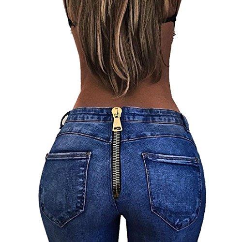 CLOOM Damen Jeansshorts Basic Damen hohe Taillen Hosen reizvolle hintere Bleistift Dehnungs Denim Jeans Hosen Frauen zurück Reißverschluss Jeans Hose Damen Shorts Kurze Hose Bermuda Pants (S)