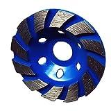 FITYLE Rueda de Amolar de Diamante Disco de Taza de Hormigón Piedra Herramienta de Albañilería 100mm - Azul