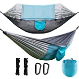 CCDYLQ 2 Person Outdoor Camping Travel Hängematte mit Moskito-Netz, Ultralight Portable Windproof, Anti-Mosquito, Swing Sleeping Hammock Bett mit für Outdoor, Wandern, Backpacking, Travel