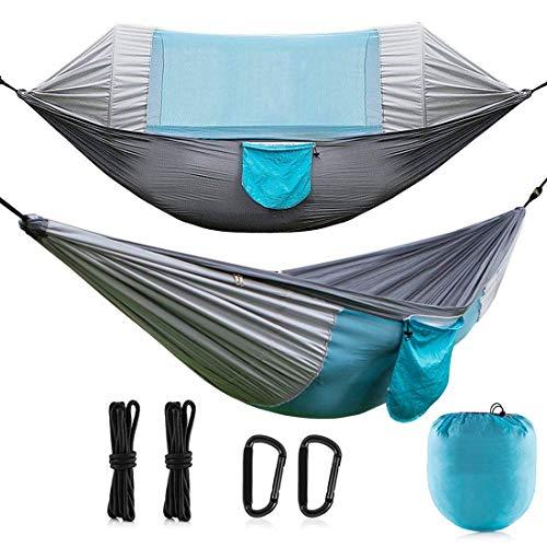 CCDYLQ 2 Person Outdoor Camping Travel Hängematte mit Moskito-Netz, Ultralight Portable Windproof, Anti-Mosquito, Swing Sleeping Hammock Bett mit für Outdoor, Wandern, Backpacking, Travel (Swing Outdoor 2 Personen)