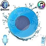 Easygo - Minialtavoz inalámbrico sumergible para Apple iPhone 4S, iPhone 5, iPad, iPod, tablet y PC (Bluetooth 3.0, incluye cable USB, ventosa y micrófono), color azul
