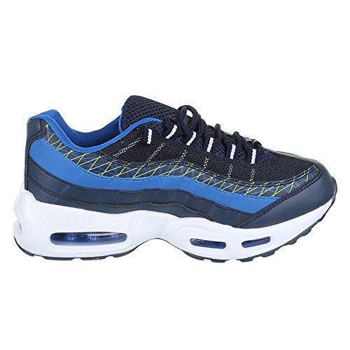 Damen Schuhe, 381-2, Freizeitschuhe SNEAKERS TURNSCHUHE Blau