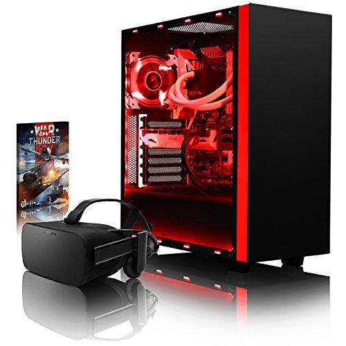 VIBOX Voxel VGS760-99 VR Gaming PC mit Oculus Rift, Spiel Bundle (4,6GHz Intel i7 6-Core Coffee Lake Prozessor, ASUS Nvidia GeForce GTX 1060 Grafikkarte, 8Go DDR4 RAM, 2TB HDD, Ohne Betriebssystem)