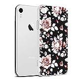 Zhuofan Plus Coque Apple iPhone XR, Silicone Transparente avec Motif Design Antichoc...