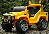 Jeep Hama 12 V gelb Kinderauto Kinderelektroauto Kinderelektrofahrzeug 12 V Quad buggy Kindermotorrad 2 Sitzer ohne Fernbedienung
