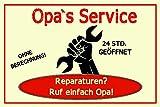 Best Plaques papa - Rahmenlos Plaque humoristique réparation Europe, Service, Papa's service Review