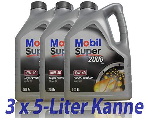 Mobil super 2000X110W-40olio motore semi-sintetico 1424733x 5L = 15L