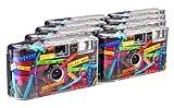 TopShot Lot de 8 appareils photo jetables pour 27 photos, avec flash (Noir)
