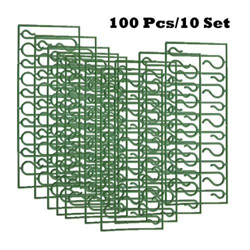 Happy Event 20/50/100pcs Weihnachtsverzierungen | S Form Haken | Weihnachtsbaum Dekoration Multi (100 Stück)