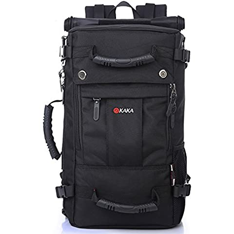 ukglobe Rucksack Laptop Backpack for Hiking Camping Travel Vacation Sports duffle bag Black 2050# by
