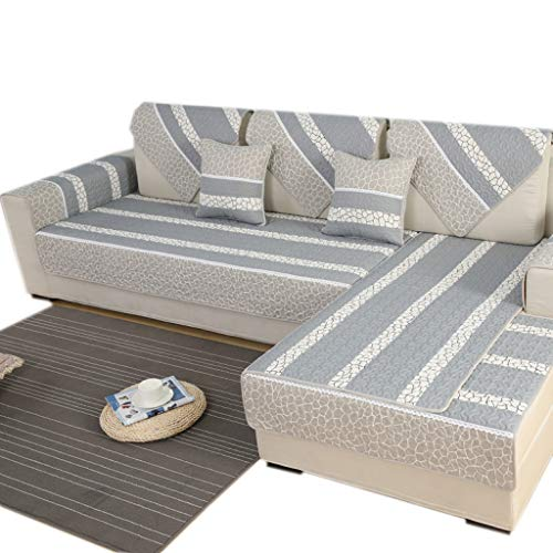 ALYR Sofa üBerzug Ecksofa, rutschhemmender Träger, Couch Pad Schonbezug für Kinder, Hunde, Katzen, Haustiere,A_28x71inch