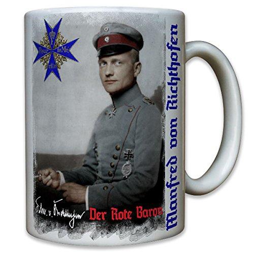Manfred Freiherr von Richthofen der rote Baron WK 1 Jagdflieger Foto Portrait Unterschrift - Tasse Becher Kaffee #8687