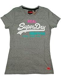 5dd72d562224 Superdry G10014HP, T-Shirt Donna, Grigio (Grey Marl), Medium (Taglia  Produttore:M)